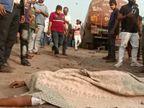 સુરતના પાંડેસરામાં પાણીના ટેન્કર અડફેટે બાઈક ચાલકનું મોત, રોષે ભરાયેલા લોકોએ ટેન્કરમાં તોડફોડ કરી|સુરત,Surat - Divya Bhaskar