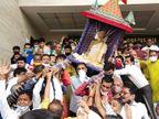 આત્મરત્નવિજયજીની પાલખી યાત્રા નીકળી|સુરત,Surat - Divya Bhaskar