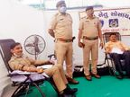 મેઘાણીનગર પોલીસ સ્ટેશન દ્વારા બ્લડ ડોનેશન કેમ્પનું આયોજન થયું|અમદાવાદ,Ahmedabad - Divya Bhaskar