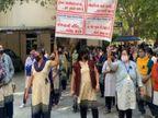 રાજકોટમાં PGVCL કર્મચારીઓ બાકી એરિયર્સ ચૂકવવાની માંગ સાથે આંદોલન પર ઉતાર્યા, 20 તારીખ સુધી કાળી પટ્ટી સાથે વિરોધ કરશે રાજકોટ,Rajkot - Divya Bhaskar