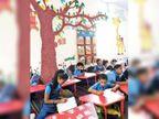 કોર્પોરેશનની સ્કૂલના બાળકોનો લાઈબ્રેરી બનાવી અભ્યાસ, ઠક્કરબાપા નગર મ્યુ.સ્કુલ 1માં 2018માં બની હતી લાયબ્રેરી|અમદાવાદ,Ahmedabad - Divya Bhaskar