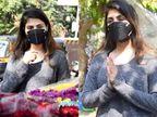 રિયા ચક્રવર્તી મુંબઈમાં ફૂલો ખરીદતી જોવા મળી, ફોટોગ્રાફર્સને જોતાં જ બે હાથ જોડીને કહ્યું, 'ફૂલ ખરીદ રહી હૂં, જાઓ ના'|બોલિવૂડ,Bollywood - Divya Bhaskar