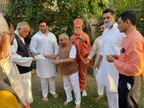 અયોધ્યા રામ મંદિર નિર્માણ માટે, જેતલપુરના સ્વામિનારાયણ મંદિર દ્વારા 1 કરોડનું દાન|ગાંધીનગર,Gandhinagar - Divya Bhaskar