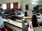 કોરોનાના ફિયર અને વેલેન્ટાઈનના ઉત્સાહ વચ્ચે રાજકોટમાં કોલેજનો પ્રથમ દિવસ, વિદ્યાર્થીઓએ કહ્યું 'વેલેન્ટાઈન વીકમાં સ્ટડીમાં ધ્યાન દઈને કોરોનાના ફિયરને ક્લિયર કરવો છે'.|રાજકોટ,Rajkot - Divya Bhaskar