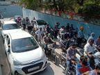 ફોર્મ ભરવા આવેલા ઉમેદવારો સાથે સમર્થકોની ભારે ભીડ, સ્કુલ-કોલેજ આવતાં વિદ્યાર્થીઓને મુશ્કેલી પાટણ,Patan - Divya Bhaskar
