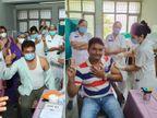 સુરતમાં 28 દિવસ બાદ કોરોના રસીનો બીજો ડોઝ અપાયો, બન્ને રાઉન્ડમાં પ્રથમ ડોઝ લેનાર ડો.રાહુલ મોદીએ કહ્યું-પ્રથમ ડોઝમાં નોર્મલ તાવ આવ્યો હતો|સુરત,Surat - Divya Bhaskar