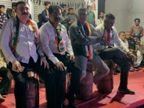 સાવરકુંડલામાં ચૂંટણી સભામાં કોંગ્રેસના નેતાઓએ ગેસના સિલિન્ડર પર બેસી વિરોધ દર્શાવ્યો, સોશિયલ ડિસ્ટન્સનો દાટ વાળ્યો|અમરેલી,Amreli - Divya Bhaskar