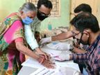 53.64 ટકા મતદાન, ગત ચૂંટણી કરતા 3.13 ટકા ઘટ્યું, મહાપાલિકાની ચૂંટણી શાંતિપૂર્ણ રીતે સંપન્ન જામનગર,Jamnagar - Divya Bhaskar