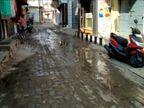 સ્થાનિક સ્વરાજની ચૂંટણી સમયે અમરેલીના દામનગરની હાલત દયનીય, યોગ્ય સફાઇ ન કરાતા ગટરો ઉભરાઈ|અમરેલી,Amreli - Divya Bhaskar