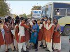 વડીયામાં ત્રણ ગામો વચ્ચે એક જ એસ.ટી.બસ હોવાથી વિદ્યાર્થીઓએ બસ રોકી હોબાળો મચાવ્યો અમરેલી,Amreli - Divya Bhaskar