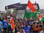 મોટેરા સ્ટેડિયમની બહાર દર્શકોએ હોબાળો કર્યો, રાષ્ટ્રધ્વજને સ્ટેડિયમમાં ન લઈ જવા દેતાં લોકો રોષે ભરાયા અમદાવાદ,Ahmedabad - Divya Bhaskar