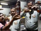 વડોદરામાં કેટરિંગનો વ્યવસાય કરતા ભાજપના પૂર્વ કાઉન્સિલર નીતિન પટેલના કર્મચારીની બર્થ ડે પાર્ટીમાં દારૂની છોળો ઉડી, હાજર લોકોએ દારૂ ભરીને પાણીપુરી ખાધી, વિડિયો વાઈરલ|વડોદરા,Vadodara - Divya Bhaskar