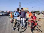 'પ્લાસ્ટિક મુક્ત ભારત' માટે દેશભરમાં સાયકલયાત્રા કરી રહેલા મધ્યપ્રદેશના યુવાનનું મોરબીના ટંકારામાં સ્વાગત કરાયું|સુરેન્દ્રનગર,Surendranagar - Divya Bhaskar