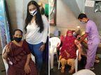 વેક્સિન લેતા પહેલા અનેક વિચારો આવ્યાં, પણ લીધા બાદ હવે બધાને વેક્સિન લેવાનું કહીશ, પાલડી ટાગોર હોલમાં રસી માટે લોકોની લાઈન|અમદાવાદ,Ahmedabad - Divya Bhaskar