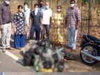 દારૂબંધીના કાયદા ઘડતી વિધાનસભાની પાછળ જ દારૂની બોટલો મળી આવી, સોશિયલ મીડિયામાં ફોટો વાયરલ ગાંધીનગર,Gandhinagar - Divya Bhaskar