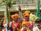 પાલિકા પ્રમુખ તરીકે સ્મિતા પટેલ અને ઉપપ્રમુખ તરીકે ધર્મેશ પ્રજાપતિની નિમણુંક થઇ પાટણ,Patan - Divya Bhaskar