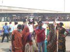 AMTS-BRTS બંધ કરાતાં જનતામાં રોષ, બે સીટ વચ્ચે એક વ્યક્તિ બેસે એવી વ્યવસ્થા સાથે બસ ચાલુ રાખો, રિક્ષાચાલકો બેફામ ભાડું વસૂલે છે|અમદાવાદ,Ahmedabad - Divya Bhaskar