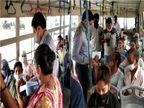 રાજકોટમાં કોરોનાની ચેઇન તોડવા મેયર BRTSમાં, મુસાફરોમાં માસ્કનું વિતરણ કરી કહ્યું- સોશિયલ ડિસ્ટન્સનું પાલન કરો|રાજકોટ,Rajkot - Divya Bhaskar