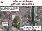 BRTS-AMTS બસ બંધ છતાં ટ્રાફિકજામમાં ફસાતા શહેરીજનો, નહેરૂબ્રિજનો ટ્રાફિક પણ ડાયવર્ટ થતાં સમસ્યા વધુ વકરી|અમદાવાદ,Ahmedabad - Divya Bhaskar
