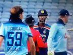 કૃણાલ પંડ્યાની તોફાની બેટિંગથી ચિડાયો ઈંગ્લેન્ડનો બોલર ટોમ કરન, બોલવા લાગ્યો અપશબ્દો|ક્રિકેટ,Cricket - Divya Bhaskar
