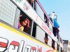 સુરતમાં ઝૂંપડપટ્ટીઓમાં ખૂલી ગઈ ટ્રાવેલ્સ ઑફિસો, દરરોજ સરેરાશ 15 બસો ભરીને શ્રમિકો ઉત્તર પ્રદેશ-બિહાર રવાના સુરત,Surat - Divya Bhaskar