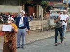 સુરતમાં માસ્કના નામે વસૂલાતા દંડનો 'આપ' દ્વારા વિરોધ, લોકોને કહ્યું- પોલીસના હાથે દંડથી બચવું હોય તો માસ્ક અવશ્ય પહેરો|સુરત,Surat - Divya Bhaskar