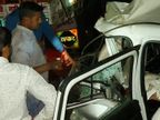 પાલનપુરના બાલારામ બ્રિજ પર કાર અને ટ્રેલર વચ્ચે અકસ્માત, કાર ચાલકનું મોત, અન્ય ત્રણને ગંભીર ઇજા|પાલનપુર,Palanpur - Divya Bhaskar
