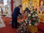 યુકે શેડો કેબિનેટ લીડર સર કીર સ્ટારમેરે કિંગ્સબરી ખાતેના સ્વામિનારાયણ મંદિરની મુલાકાત લીધી|અમદાવાદ,Ahmedabad - Divya Bhaskar