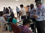 અમદાવાદ એરપોર્ટના કર્મચારીઓને કોરોના વેક્સિન અપાઈ, ટેસ્ટ માટેની વ્યવસ્થા ગોઠવવામાં આવી|અમદાવાદ,Ahmedabad - Divya Bhaskar