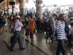 અમદાવાદથી હોળી પર વતન જતા લોકોની બસ સ્ટેન્ડ પર ભીડ,મહારાષ્ટ્રથી આવતા લોકોનો રિપોર્ટ ચેક કરવાની કોઈ વ્યવસ્થા નહીં|અમદાવાદ,Ahmedabad - Divya Bhaskar