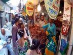 રાજકોટના પરાબજારમાં ગ્રાહકો અને વેપારીઓ માસ્ક પહેર્યા વગર જોવા મળ્યા, હોળી-ધૂળેટી બાદ કોરોના વધુ વકરે તો નવાઇ નહિ|રાજકોટ,Rajkot - Divya Bhaskar