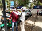 કોરોના રસીકરણ માટે લોકોમાં જનજાગૃતિ કેળવવા ટ્રાફીક પોલીસને મેદાનમાં ઉતરવું પડ્યું, શહેરમાં માઈકથી એનાઉન્સમેન્ટ શરૂ કરાયું|ગાંધીનગર,Gandhinagar - Divya Bhaskar