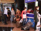 સતત બીજે દિવસે એરપોર્ટ પર ધમાલ, 35 મુસાફર ટેસ્ટ કરાવ્યા વિના પહોંચ્યા|રાજકોટ,Rajkot - Divya Bhaskar