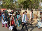 કેસ વધતાં રાજકીય પક્ષોએ ડોર ટુ ડોર પ્રચાર વધાર્યો|ગાંધીનગર,Gandhinagar - Divya Bhaskar