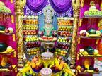 શ્રી સ્વામિનારાયણ મંદિર, મણિનગરમાં શ્રી ઘનશ્યામ મહારાજ સમક્ષ ફળોત્સવ કરવામાં આવ્યો...|અમદાવાદ,Ahmedabad - Divya Bhaskar