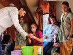 કોરોના સંક્રમણ અટકાવવા વડોદરામાં યુવક-યુવતીએ રજિસ્ટર્ડ મેરેજ કર્યાં, લગ્નમાં મહેમાનોને બોલાવવાને બદલે બ્લડ ડોનેશન કેમ્પ કર્યો|વડોદરા,Vadodara - Divya Bhaskar