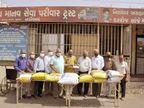 નડિયાદની સેવાકીય સંસ્થાએ અન્નસેવામાં ફાળો આપ્યો તથા નાણાંકીય સહાય આપી|નડિયાદ,Nadiad - Divya Bhaskar