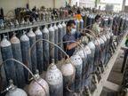 સિવિલ 1200 બેડ હોસ્પિટલના ટ્રાયજમાં ઓક્સિજનની ઝમ્બો બોટલો ખૂટી પડી, હજુ પણ 15 દિવસ ઓક્સિજનની માગ રહેશે|અમદાવાદ,Ahmedabad - Divya Bhaskar