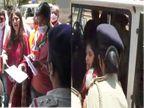 રાજકોટમાં NCPના મહિલા પ્રમુખ રેશ્મા પટેલ માસ્ક પહેર્યા વગર કલેક્ટરને રજુઆત કરવા પહોંચ્યા, પોલીસે કાર્યકર્તા સાથે અટકાયત કરી|રાજકોટ,Rajkot - Divya Bhaskar