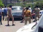 સુરતના વેસુમાં ચોરી છૂપી વેક્સિન અપાતી હોવાની વાતે સ્થાનિકોએ હોબાળો કરતાં પોલીસનો હળવો લાઠિચાર્જ|સુરત,Surat - Divya Bhaskar