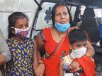 પલસાણામાં દાઝેલા કામદારનું મોત થતાં મૃતકની પત્ની પતિનો મૃતદેહ લઈ મિલના ગેટ પર બેસી ગઈ, બે સંતાનોએ પિતાની છત્રછાયા ગુમાવી પલસાણા,Palsana - Divya Bhaskar