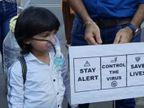 સુરતમાં 4 વર્ષના બાળકે વૃક્ષોનું મહત્વ સમજાવવા માટે ઓક્સિજન માસ્ક પહેરીને લોકોને રસ્તા પર સંદેશો આપ્યો|સુરત,Surat - Divya Bhaskar