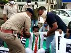 રાજકોટમાં નિષ્ફ્ળ સરકારના આક્ષેપ સાથે કોંગ્રેસના આગેવાનોએ વિરોધ નોંધાવ્યો, પોલીસે અટકાયત કરી રાજકોટ,Rajkot - Divya Bhaskar