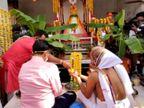 અમદાવાદમાં ભગવાન જગન્નાથજીની રથયાત્રા પહેલાં ત્રણેય રથનું પૂજન કરાયું, જળયાત્રા યોજવા નિર્ણય નથી લેવાયો અમદાવાદ,Ahmedabad - Divya Bhaskar