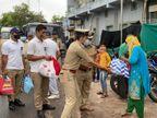 અમદાવાદમાં વાવાઝોડાને કારણે રાતથી ભૂખ્યા બેઠેલા ગરીબ પરિવારોની મદદે આવી પોલીસ, રાશન કિટનું વિતરણ કર્યું|અમદાવાદ,Ahmedabad - Divya Bhaskar