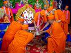 અમદાવાદમાં મણિનગર સ્વામિનારાયણ ગાદીના આચાર્ય પુરુષોત્તમપ્રિયદાસજી સ્વામીનો 79મો સદ્બાવ પર્વ ઉજવાયો|અમદાવાદ,Ahmedabad - Divya Bhaskar