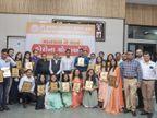 સુરતના પાટીદાર સમાજ કોવિડ કેર આઈલોલેશન સેન્ટરમાં 37 દિવસમાં 248 દર્દીઓને કોરોનામુક્ત કરનાર 125 વોરિયર્સનું સન્માન કરાયું|સુરત,Surat - Divya Bhaskar