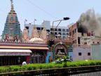 અમદાવાદના કાંકરિયા સ્વામિનારાયણ મંદિરના સ્ટોર રૂમમાં શોર્ટસર્કિટથી આગ; કોઈ હાજર ન હોવાથી જાનહાનિ ટળી અમદાવાદ,Ahmedabad - Divya Bhaskar