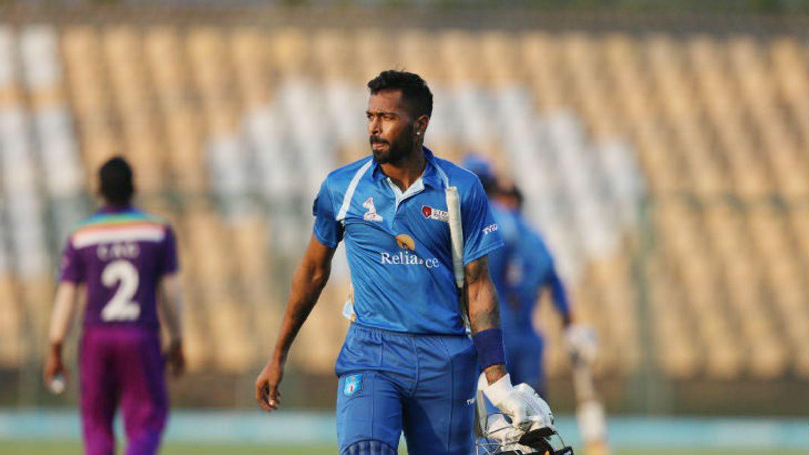 Hardik Pandya Century in DY Patil T20 Cup Shikhar Dhawan Out | चोट के बाद वापसी कर रहे पंड्या ने 37 गेंद पर शतक लगाया, शिखर धवन शून्य पर आउट - Dainik Bhaskar