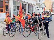 नन्हे रामभक्त; राममंदिर निर्माण के लिए बच्चों ने साइकिल रैली निकाल लोगों से सहयोग मांगा|श्रीगंंगानगर,Sriganganagar - Dainik Bhaskar